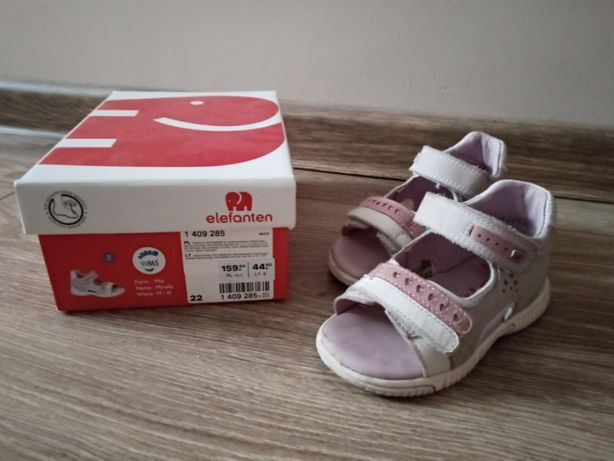 sandałki, buciki dla dziewczynki elefanten 22