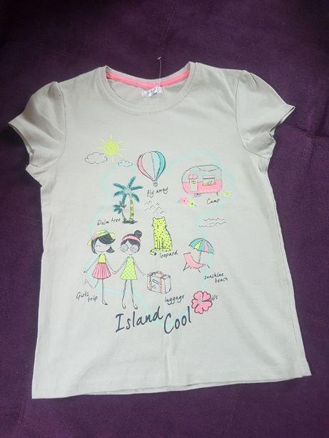 Новая детская футболка для девочки с принтом 122