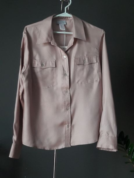 Bluzka koszulowa koszula z jedwabiu