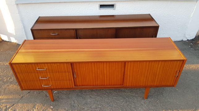 Sideboard komoda jamnik długi violetta lata 70 prl design