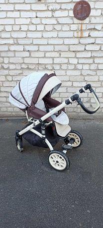 Продам детскую универсальную коляску 2 в 1 бежево-коричневую