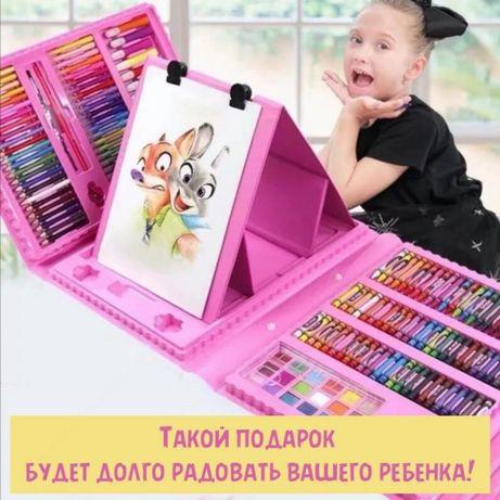 УСПЕЙ КУПИТЬ! 208 предметов в кейсе краски, карандаши, фломастеры