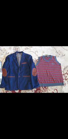 Школьный пиджак для мальчика и жилетка