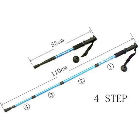 Bengalas caminhadas varas telescópica ultraleve 2 pcs/par