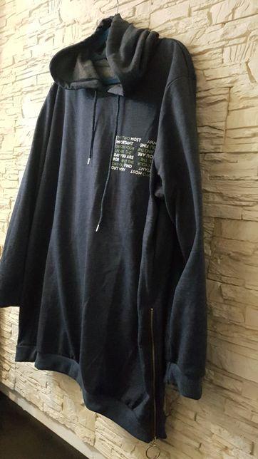 Bluza z kapturem lekko ocieplana nowy model 48-52