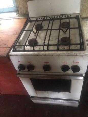 Печка газовая с протвинем и решеткой