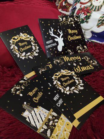 Новорічні листівки Merry Christmas 10 шт