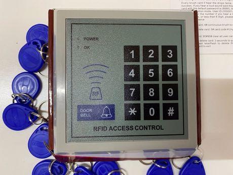 Compainha para acesso com código  e chaves RFID