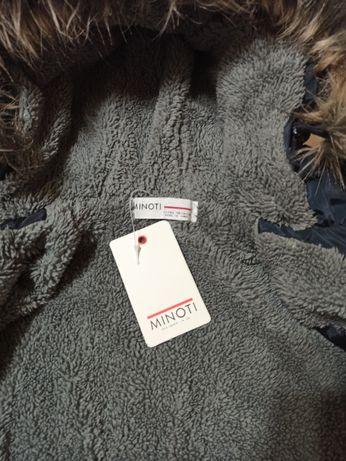 NOWA!!! Kurtka zimowa na MISIU dla chłopca marki MINOTI rozm. 98/104