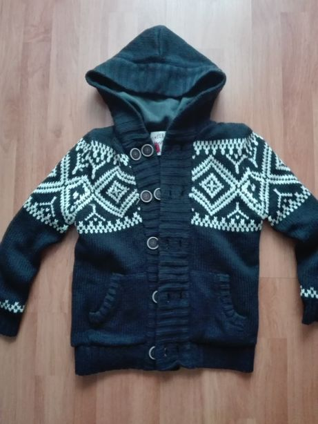 REBEL gruby ocieplany sweter 134