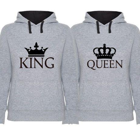 2 Sweats com Capuz Cinza King & Queen Flat Pack - Oferta de Portes