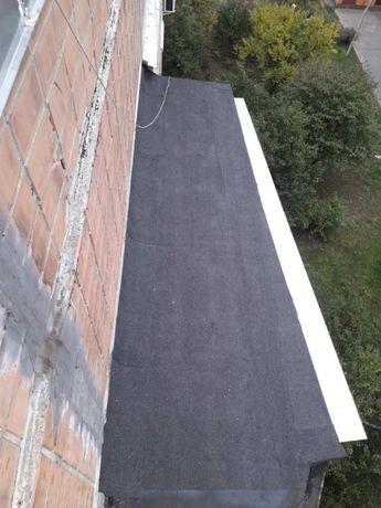Ремонт крыши балкона (мягкая кровля_еврорубероид).