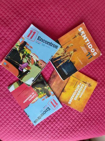 Livros de português do 11° de duas editoras