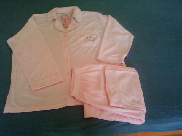 Piżama damska różowa
