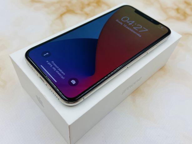 iPhone X 64GB SILVER • GWAR 12 msc • DARMOWA wysyłka • FAKTURA