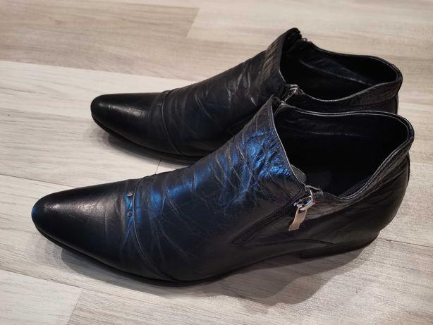 Ботинки демисезонные мужские. Кожа