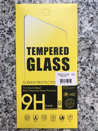 Szkło hartowane do iPhona 6+/7+/8+ z wyświetlaczem 5,5 cala.