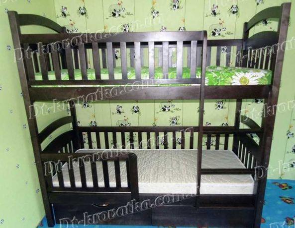 Кровать Карина  с матрасами и ящиками двухъярусная от производителя