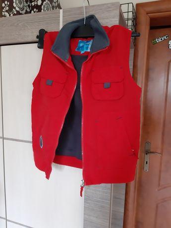 Kamizelka lato reserved 134cm kieszonki czerwona styl zara hm Unisex