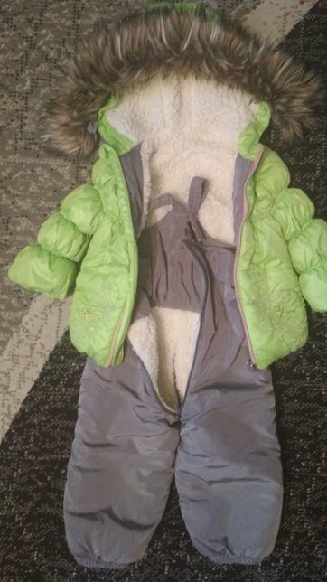 Комбинезон куртка костюм зимняя на меху рост 92