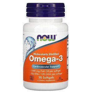 Now Foods, омега-3, очищенная на молекулярном уровне, 30 капсул,omega Луцк - изображение 1