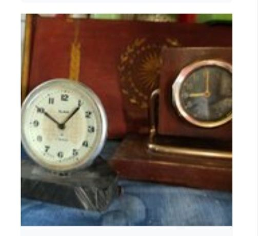 Настольные, винтажные, ретро часы-будильник на подставке