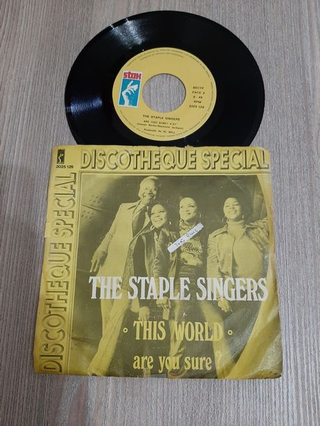 Disco vinil 45 rotações The Staple Singers