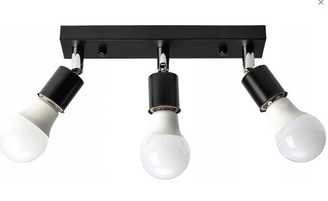 LAMPA SUFITOWA reflektor METAL 3xE27 kolory NOWA