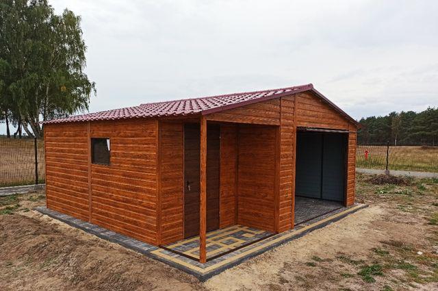Garaż drewnopodobny 6x6 NOWOCZESNY OD PRODUCENTA