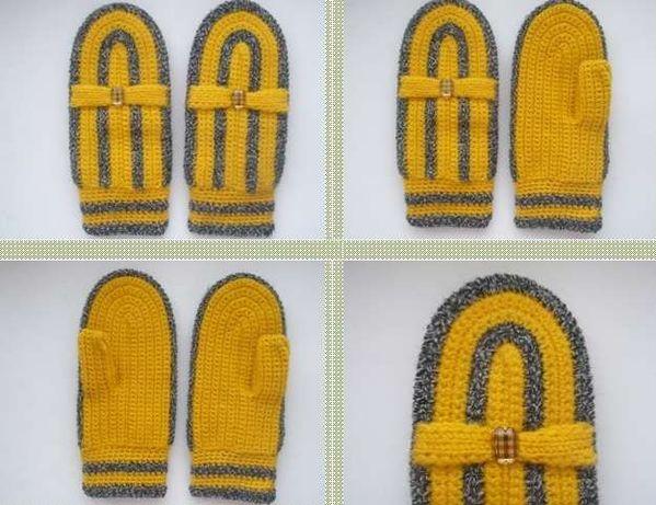 Новые женские вязаные рукавицы Французский бульвар, размер М