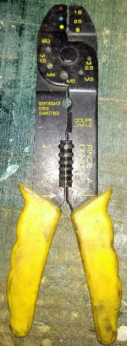 Alicate Cravar Terminais Electricista Multifunções