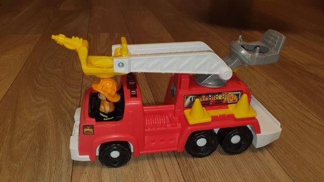 Straż pożarna, drabinka, strażak.