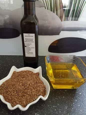 Olej tłoczony na zimno z lnu + błonnik 100 %oryginalny