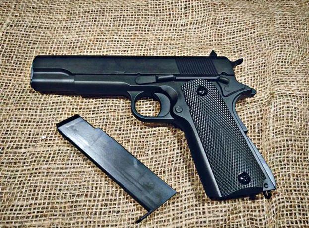 Страйкбольнний пистолет метал пульки в комплекте 6 мм Детский Colt