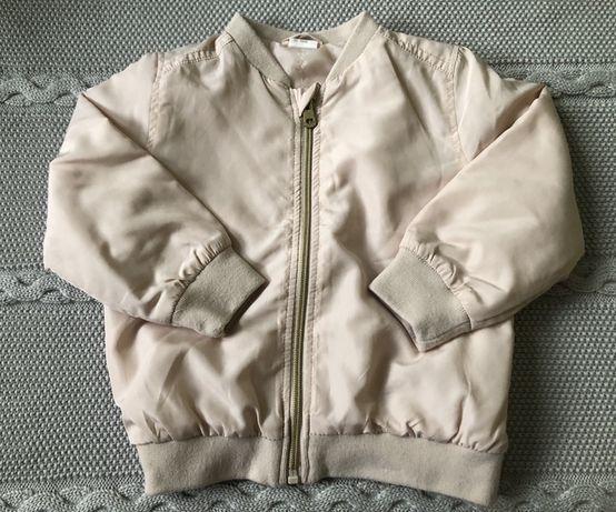 Bomberka H&M 92 kurteczka bluza beż puder