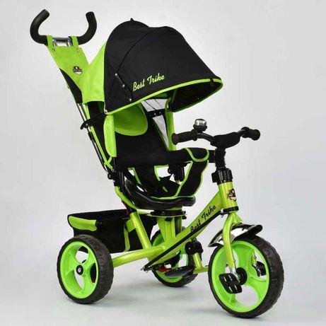 Трёхколёсный велосипед детский Салатовый, звоночек на руле, Ровер