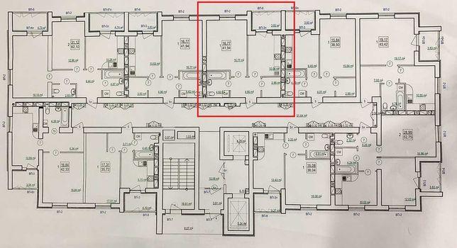 ЖК СКАЗКА Продам 1 комн квартиру 41,94м2 Новострой Холодная Гора  G