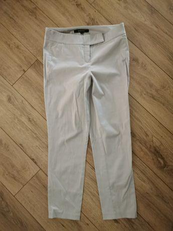 Reserved 38 M jasne szare popielate spodnie 7/8