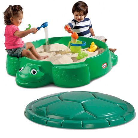 Пісочниця дитяча Черепаха Little Tikes з кришкою песочница