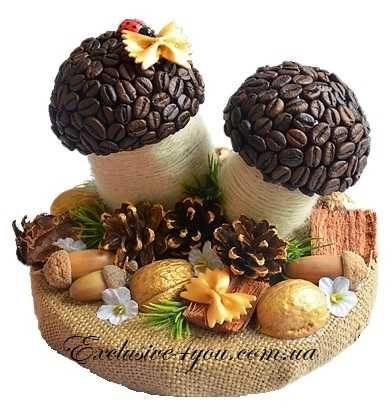 Кофейные грибочки в лесу на осеннюю ярмарку