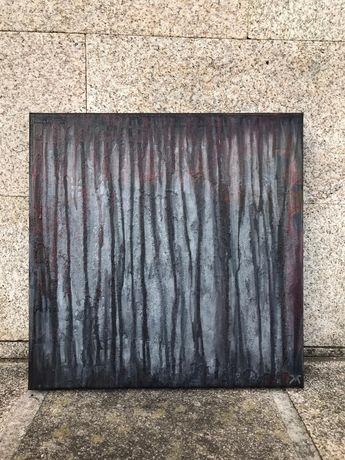 """Quadro pintura abstrato """"Dark forest"""" - 50x50 cm"""