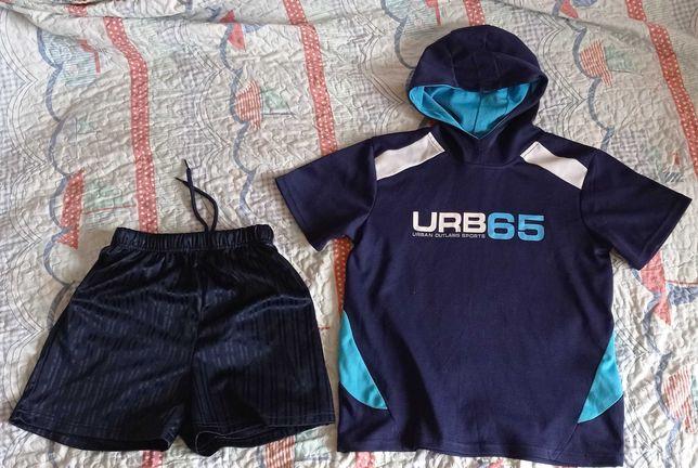Спортивная футбольная форма футболка и шорты, р. 146-152