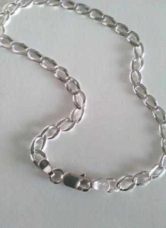 Łańcuszek srebrny bransoletka pr925