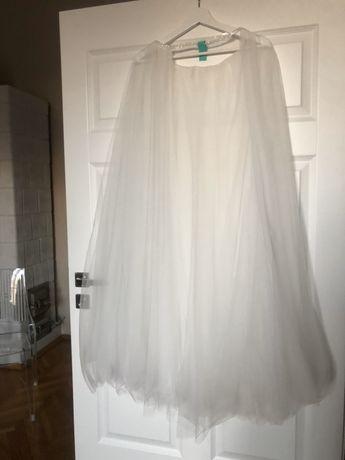 Tiulowa spódnica dodatek do sukni ślubnej