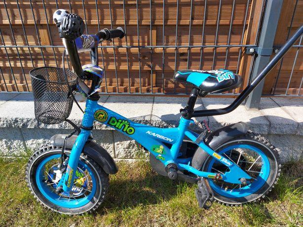 Rower dziecięcy KARBON DINO 12 cali z wyposażeniem