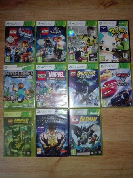 Sprzedam zestaw 4 gier na konsolę Xbox 360 i Kinect