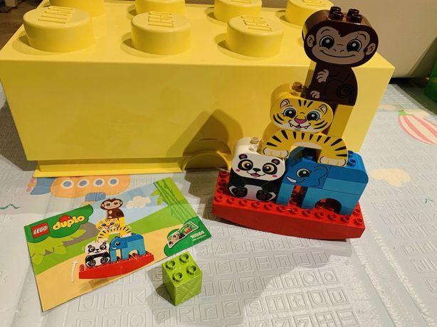 Lego duplo zwierzaki na rownoważni