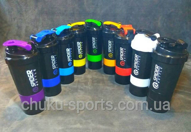 Шейкер для спортивного питания Spiderbottle 500 мл, фляга, бутылка