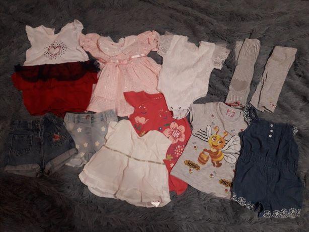 Летние вещи на девочку ( шорты, футболки, песочники , платье )