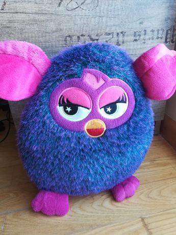 Maskotka Furby fioletowa duża 30 cm przytulanka bardzo dobry stan